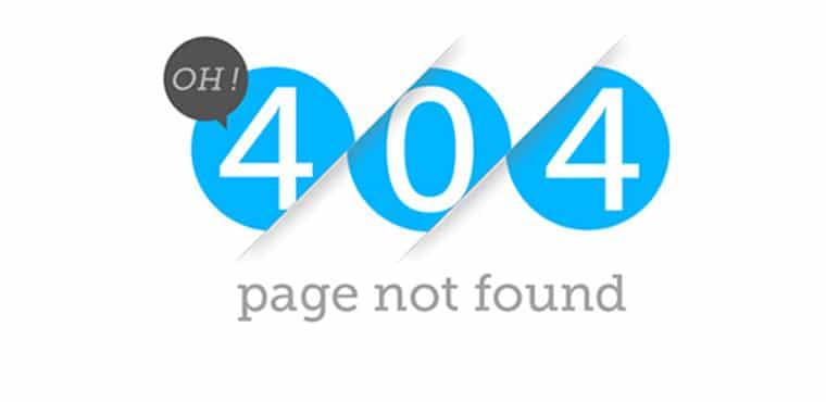404 errrors